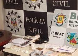 Polícia Civil prende dois suspeitos de tráfico de drogas em Gramado