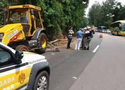 Trabalhador morre ao ser atingido por árvore na ERS-122 em Farroupilha