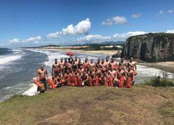 Bombeiros de Bento realizam curso com alunos-soldados no Litoral Norte