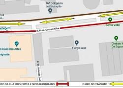 Evento altera trânsito na Rua Presidente Costa e Silva em Bento
