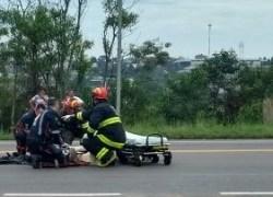 Motociclista fica ferido após queda na BR-470 em Garibaldi