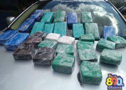 Homem é preso com quase 25 quilos de pasta base de cocaína na BR-470 em Bento