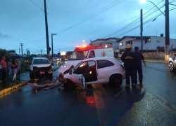 Quatro pessoas ficam feridas em acidente no Licorsul em Bento