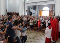 Celebração da Paixão do Senhor reúne fiéis em Caravaggio