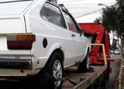 Automóvel com registro de furto é recuperado na Linha Zemith em Bento