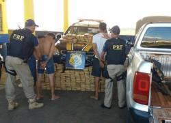 PRF prende dupla transportando mais de 200 tijolos de maconha na BR-116 em Vacaria