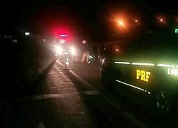 PRF atende acidente com atropelamento de pedestre na BR-386 em Lajeado