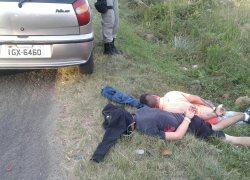 Assaltantes são presos após roubo à lotérica em Garibaldi