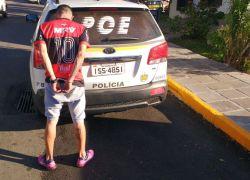 Foragido da Justiça é preso no bairro Zatt em Bento