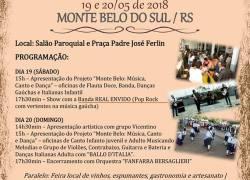 Monte Belo do Sul confirma programação para o Dia do Vinho 2018
