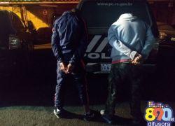 Dupla suspeita de envolvimento em assalto em Bento é presa