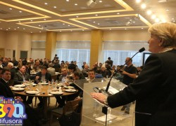 No CIC/BG, Ana Amélia pede que sociedade escolha seus representantes e garante apoio a pleitos da região