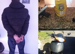 3° BRBM prende homem armado com motocicleta roubada em Tramandaí