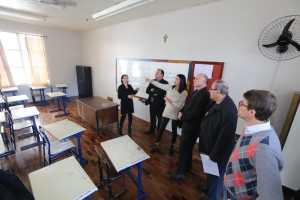Visita ao IEE Tiradentes em Nova Prata 1