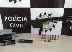 Polícia Civil apreende espingarda e munição em Farroupilha