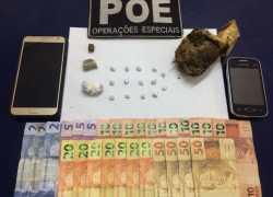 Brigada prende dois homens por tráfico em Nova Prata