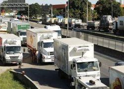 Fluxo de veículos pesados aumentou 47% em junho