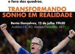 Bernardinho palestra em Bento Gonçalves nesta quinta
