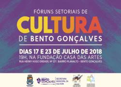 Fóruns Setoriais de Cultura acontecem dias 17 e 23 de julho em Bento