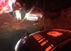 Casal fica ferido em acidente de trânsito na Serra das Antas na BR-470 em Bento