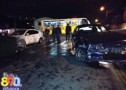 Quatro pessoas ficam feridas em acidente no Santa Helena em Bento
