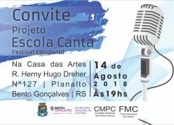 Projeto Escola Canta resgata história dos festivais e destaca talento de estudantes de Bento