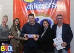 Comitiva divulga na Rádio Difusora a Expo Carlos Barbosa 2018