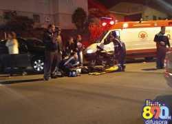 Acidente deixa mulher ferida no Borgo em Bento