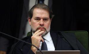 Ministro Dias Toffoli durante sessão da Segunda Turma do STF para jugar ação penal proposta pela Procuradoria-Geral da República (PGR) contra a senadora Gleisi Hoffmann e seu marido, o ex-ministro do Planejamento Paulo Bernardo.