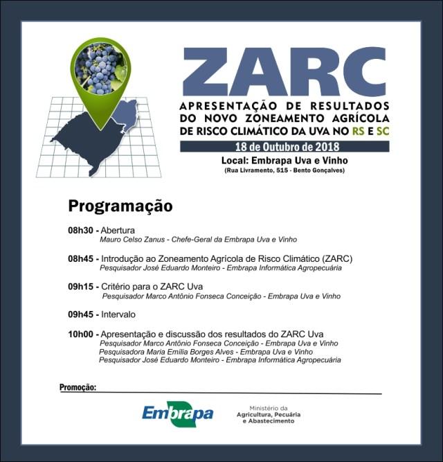 2018-10-18 - Programação Reunião ZARC
