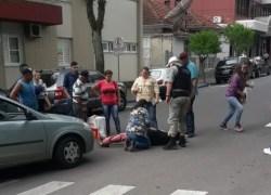 Homem é atropelado na área central de Bento