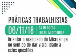 Microempa promove palestra sobre Práticas Trabalhistas