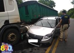 Colisão envolve sete veículos em acidente na BR-470 em Bento