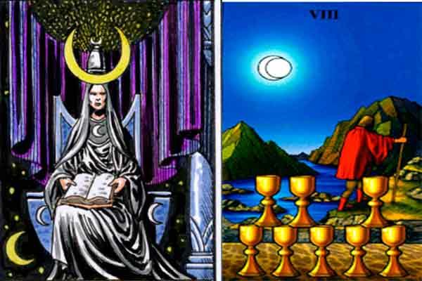 combinacion-para-hoy-18-de-agosto-la-sacerdotisa-y-el-ocho-de-copas-en-el-tarot-diario
