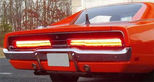 1969-1970 Dodge Charger LED Tail Light Panels DIGI-TAILS