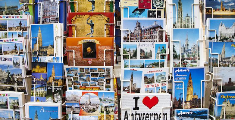 Antwerp, Belgium's Grote Markt area.