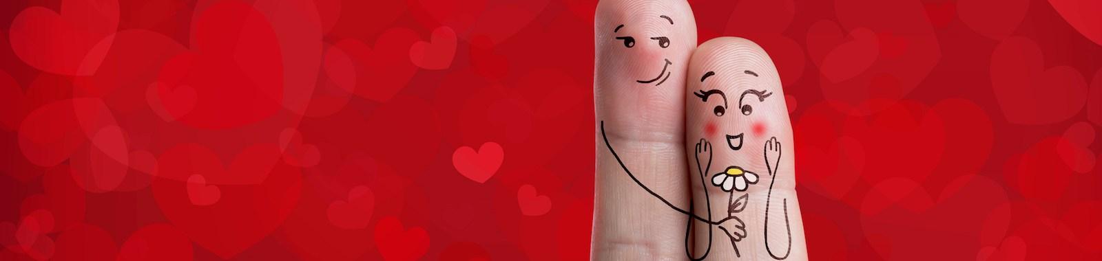 Finger art of a happy couple.