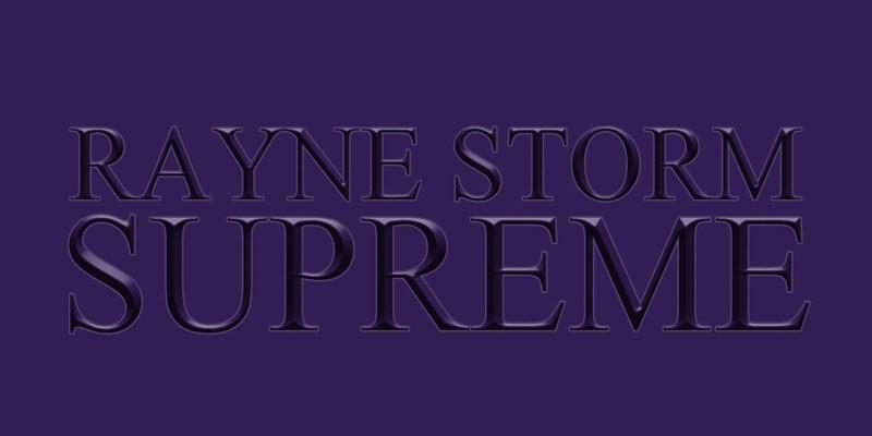 Rayne Storm – Supreme (EP)