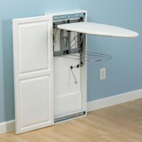 The Fold-Out Ironing Board Cabinet - Hammacher Schlemmer