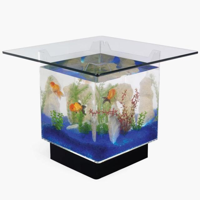The Aquarium Coffee Table   Hammacher Schlemmer