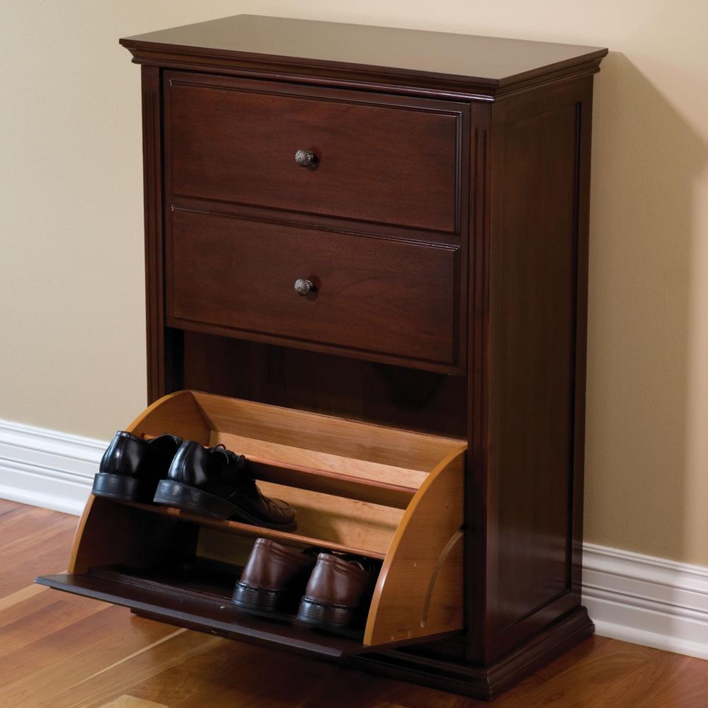 The Hideaway Shoe Cabinet Hammacher Schlemmer