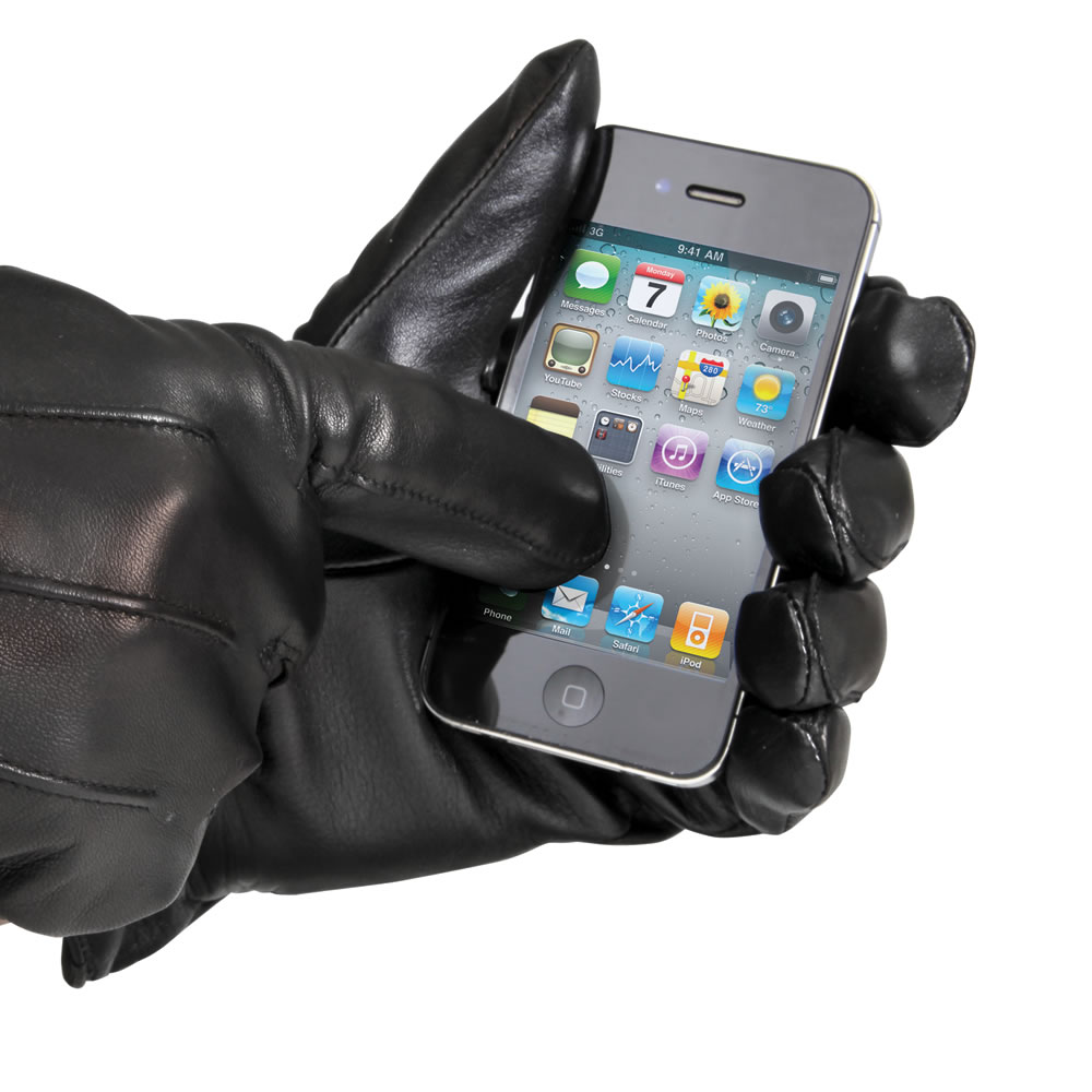 The touchscreen leather gloves mens