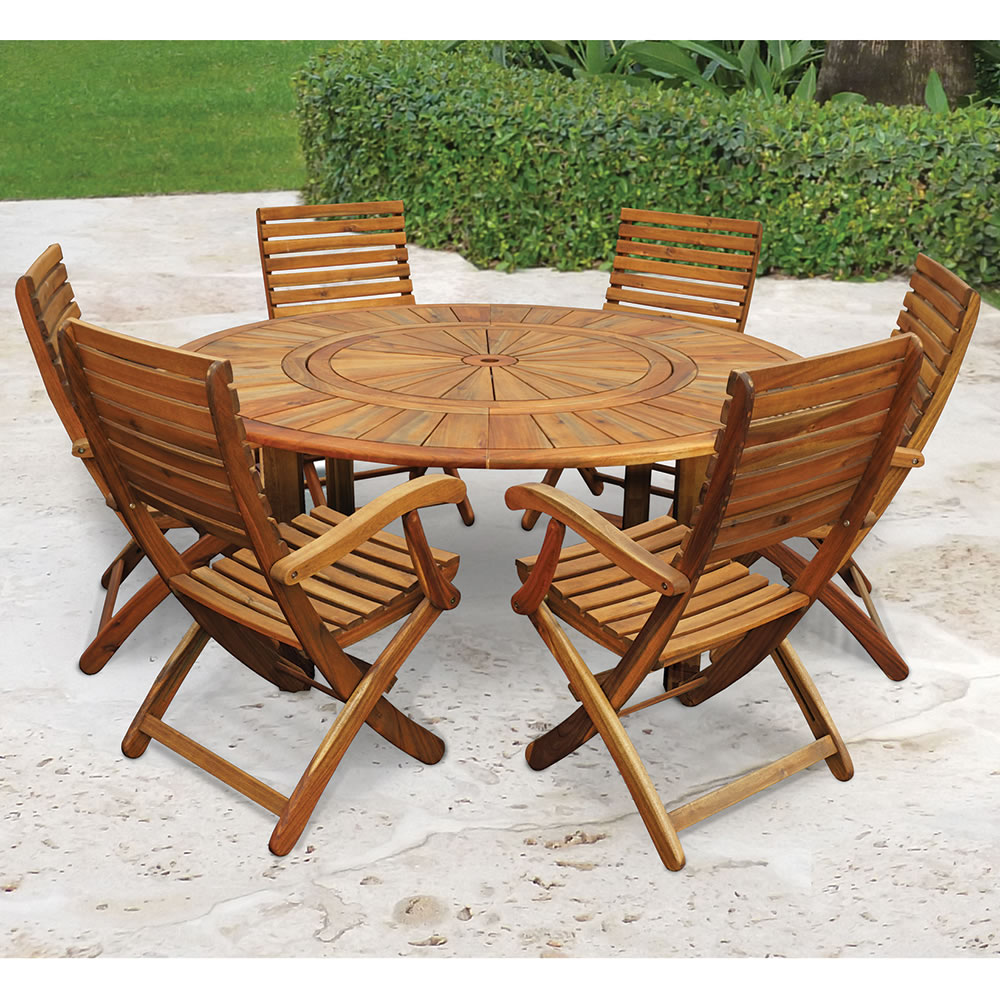 The Lazy Susan Outdoor Table Set