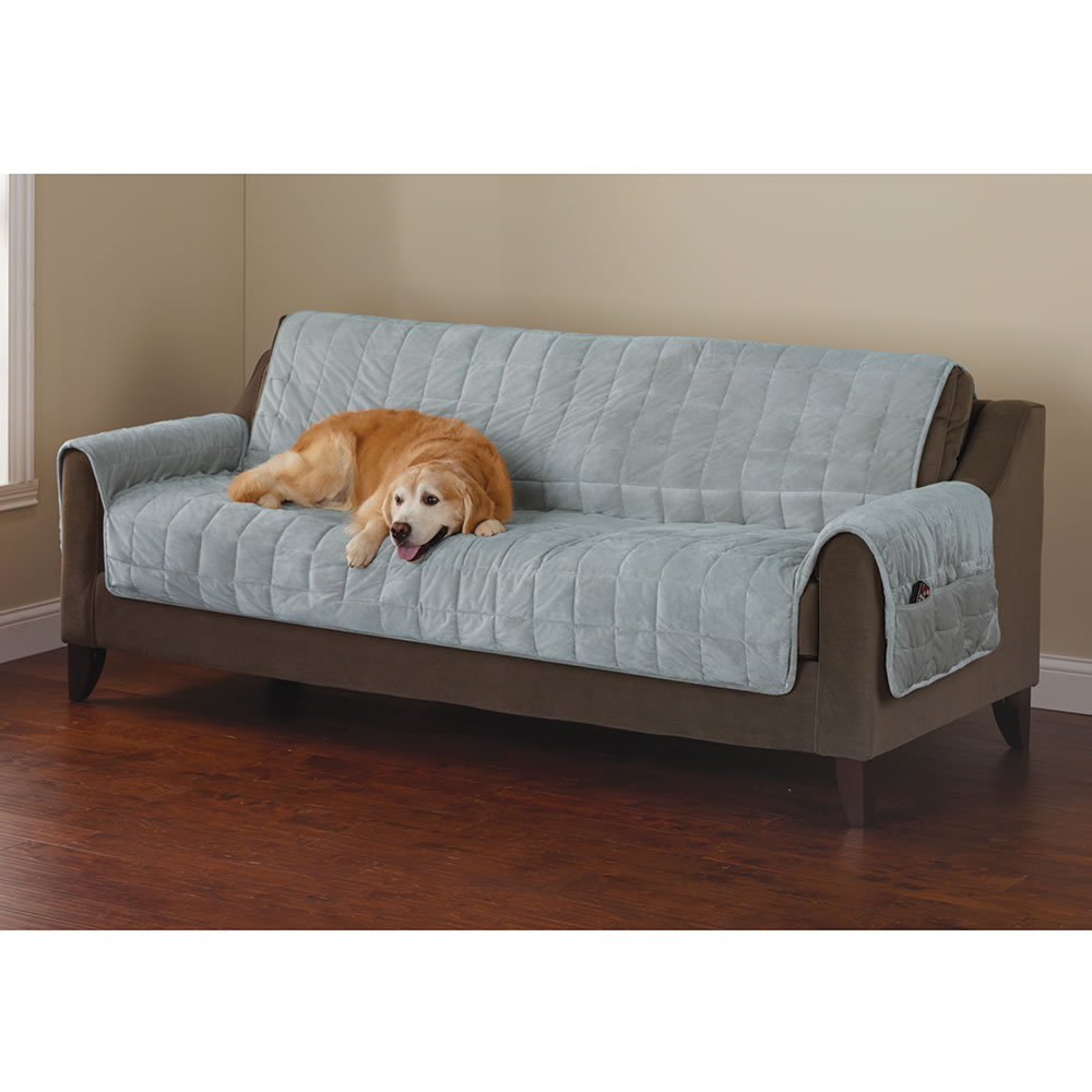 Big Sofa Fawn The Non Slip Furniture Protecting Pet Covers Hammacher Schlemmer