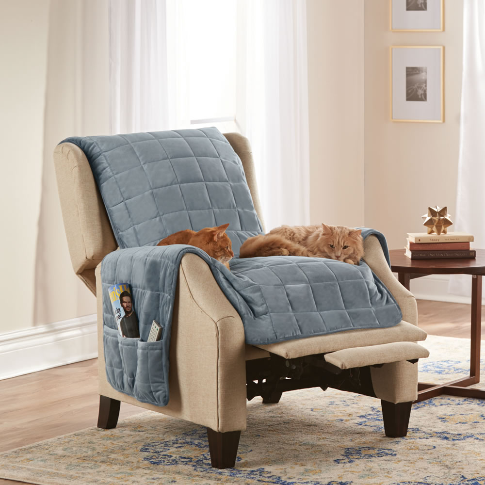 Quilted Lounge Chair Covers The Non Slip Furniture Protecting Pet Covers Hammacher