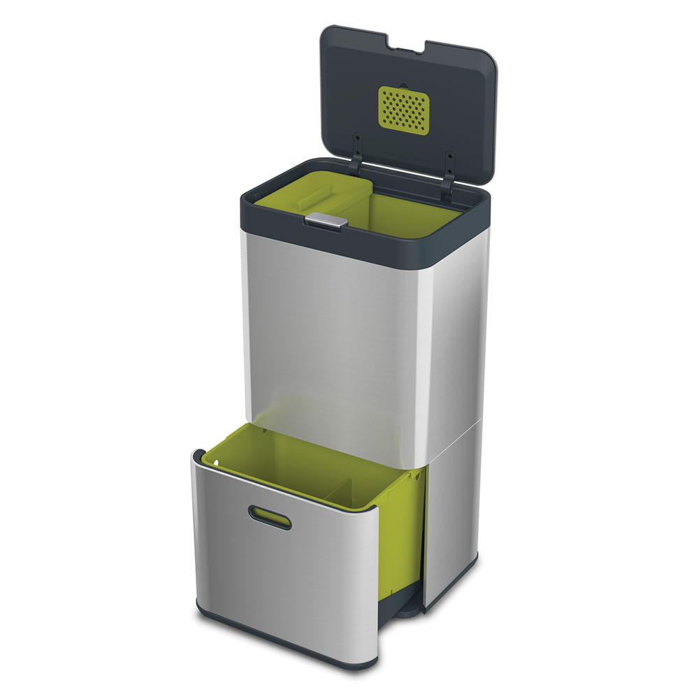 Duo Abfalleimer The Complete Modern Waste Station - Hammacher Schlemmer