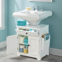 The Pedestal Sink Storage Cabinet - Hammacher Schlemmer