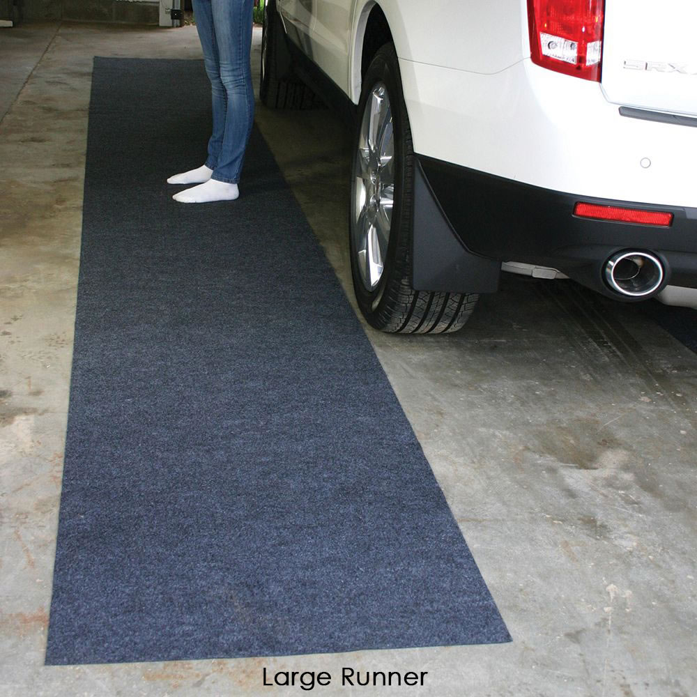 Water Absorbing Garage Mat Hammacher Schlemmer