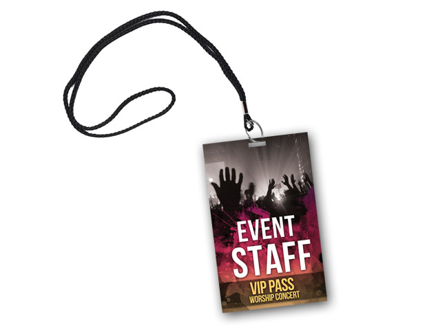 Microsoft Backstage Pass Template Ophionco - Event badge template