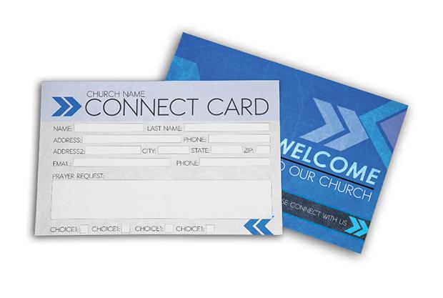 Church Connect Card Blue - Digital316net